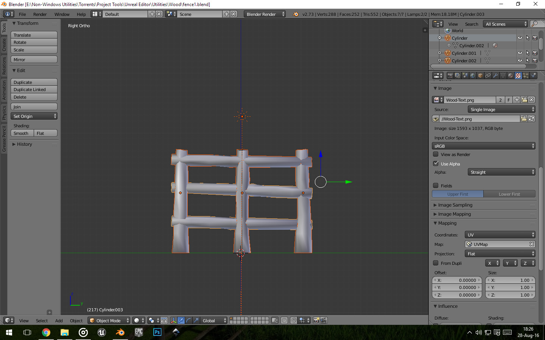 Wooden Fence Final Model