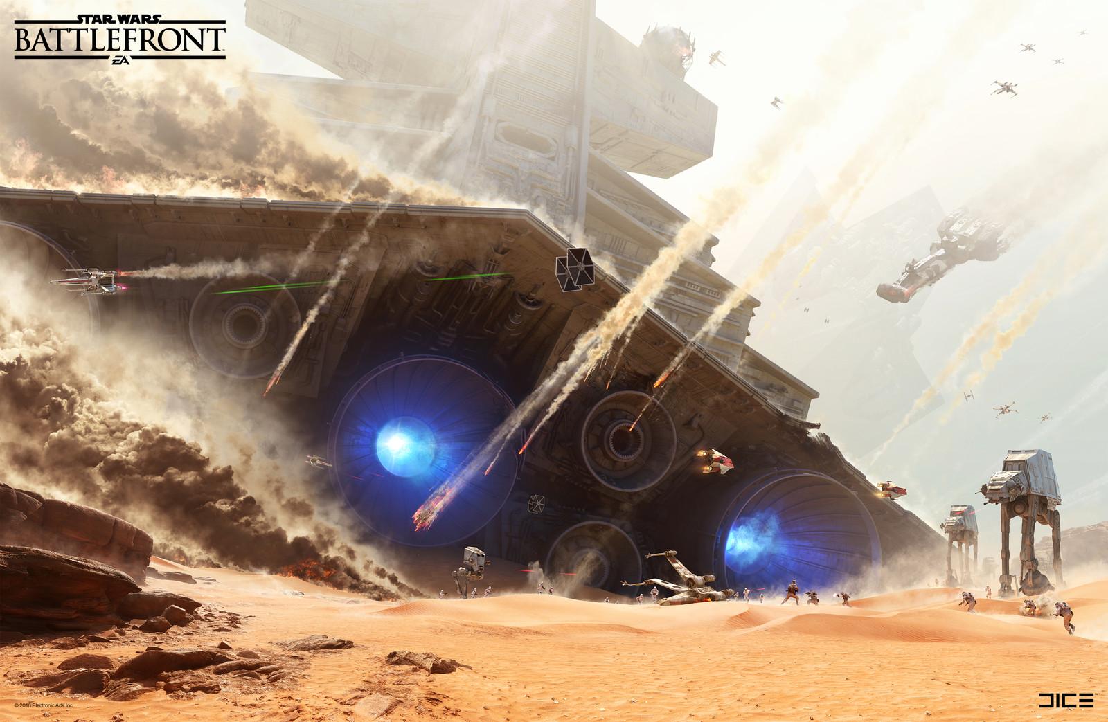 Jakku Key Art for the 2015 Star Wars Battlefront game. (2015)