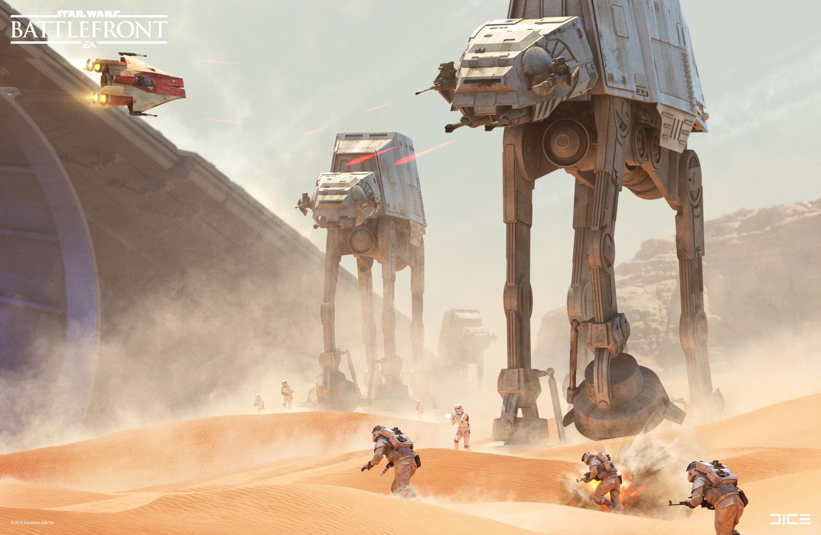 Jakku Key Art for the 2015 Star Wars Battlefront game (detail). (2015)