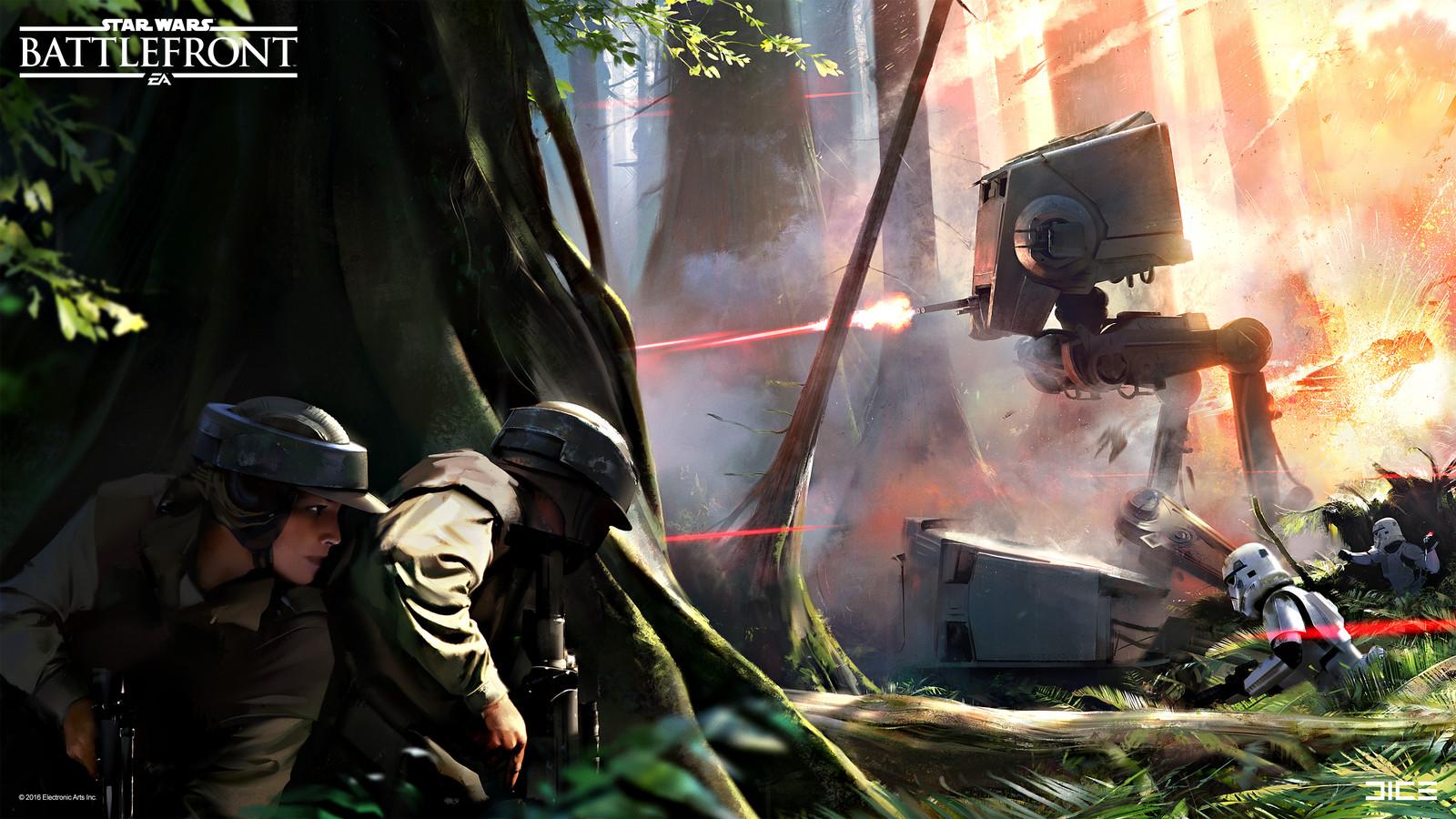 Official Endor Concept Art for the 2015 Star Wars Battlefront game. (2015)