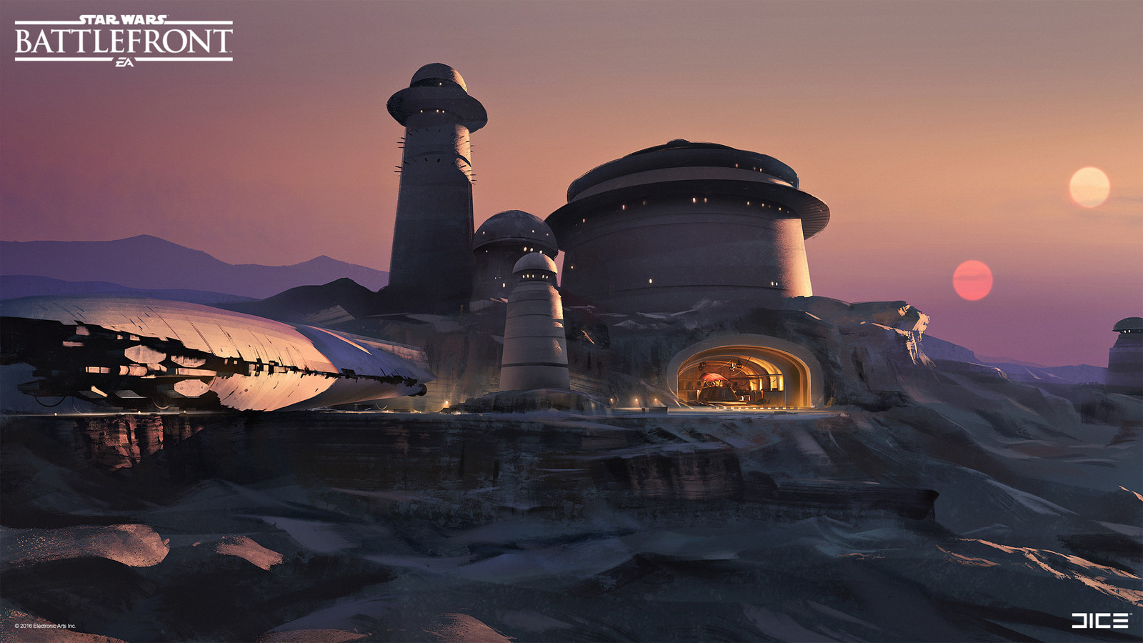 Official Jabba's Palace Concept Art  for the Star Wars Battlefront Outer Rim DLC. (2015)