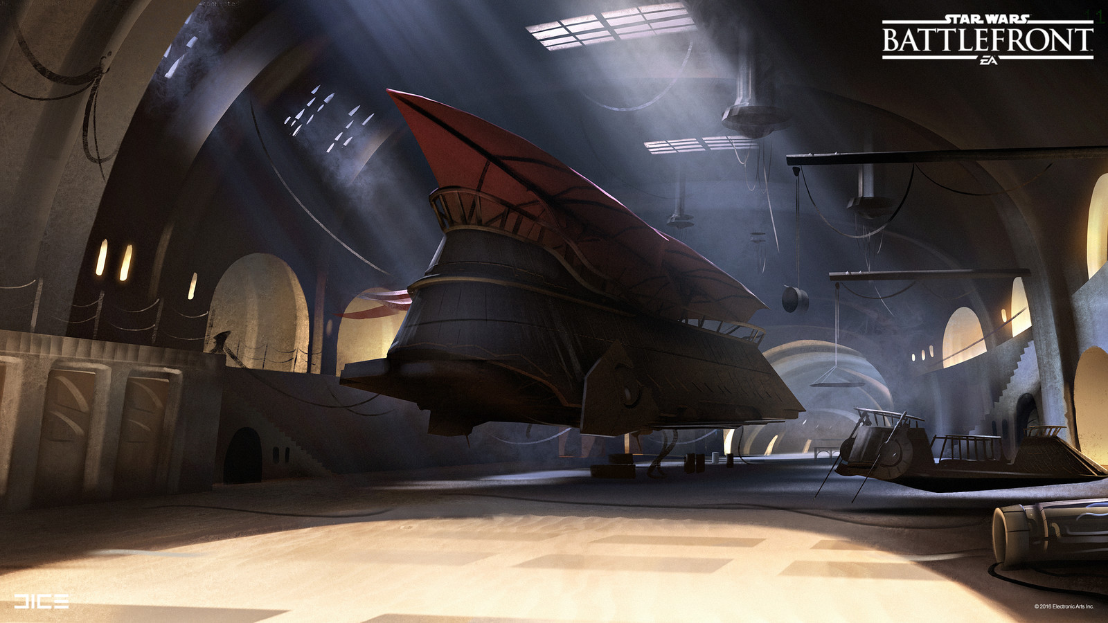 Jabba's Palace Concept Art  for the Star Wars Battlefront Outer Rim DLC. (2015)
