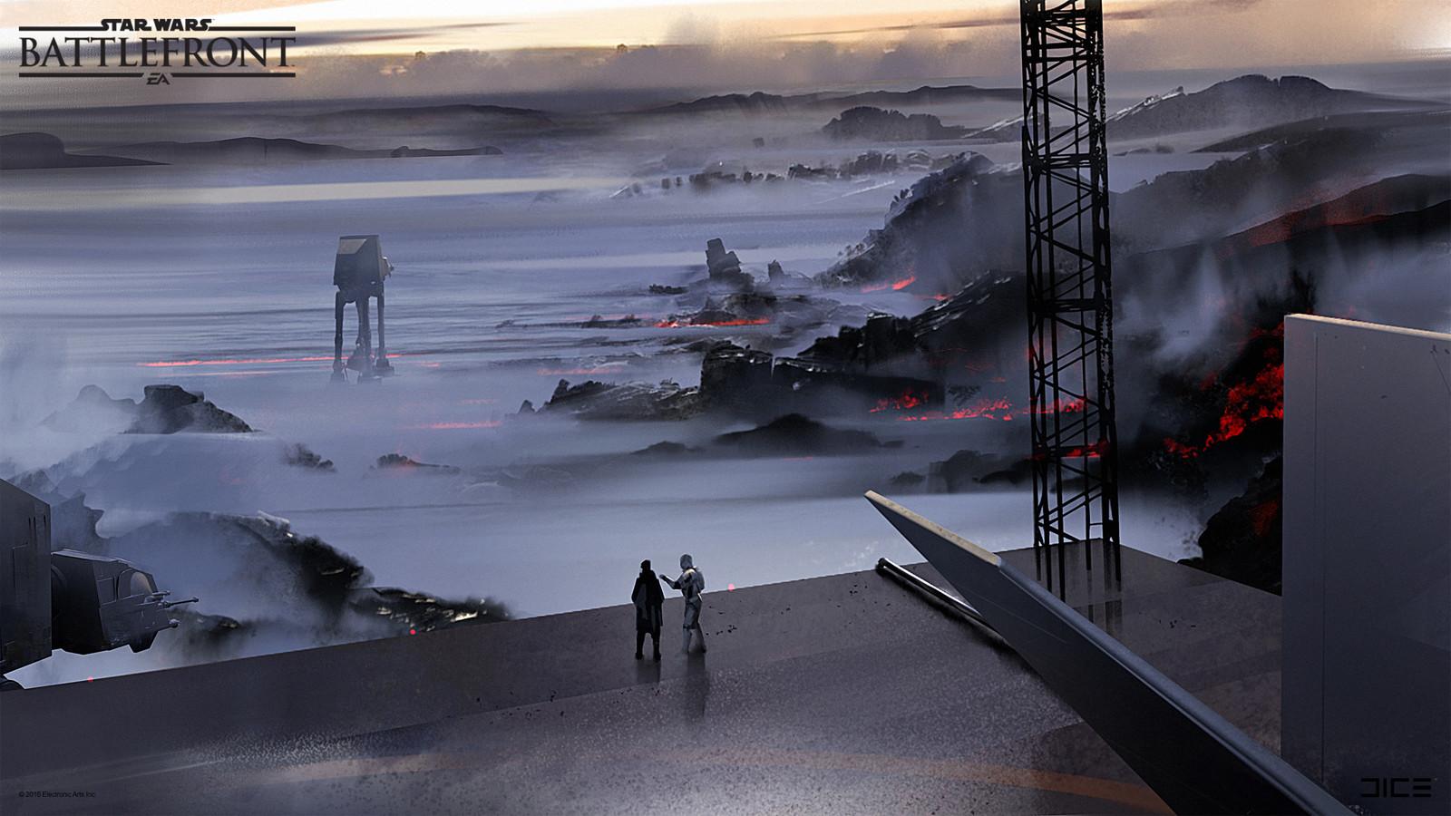 Sullust Concept Art exploration for the 2015 Star Wars Battlefront game. (2013)