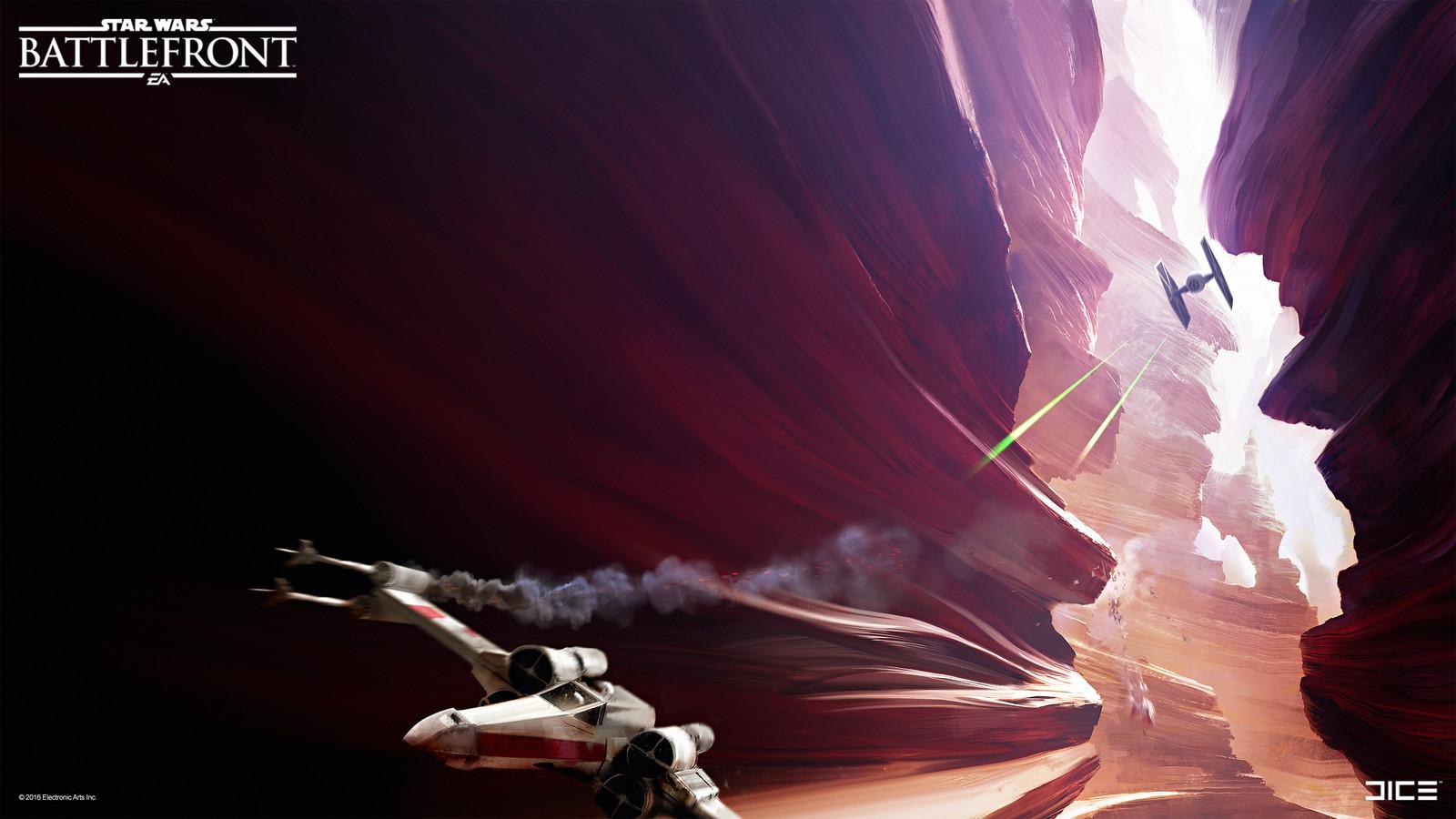 Tatooine Concept Art for the 2015 Star Wars Battlefront game. (2013)