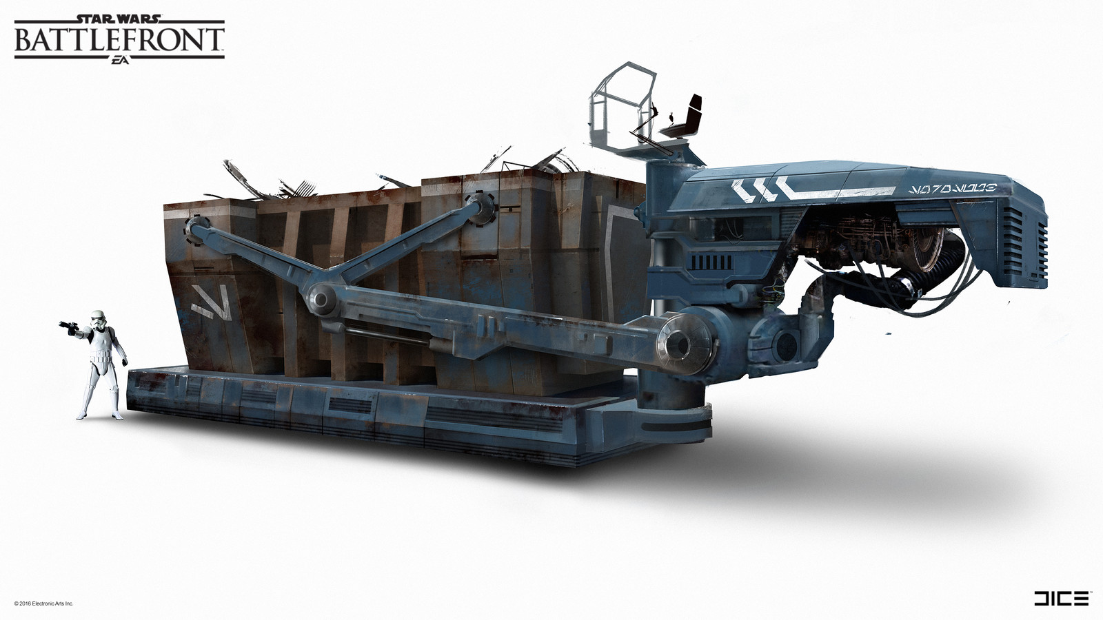 SoroSuub Container Transport Concept Art  for the Star Wars Battlefront Outer Rim DLC. (2015)