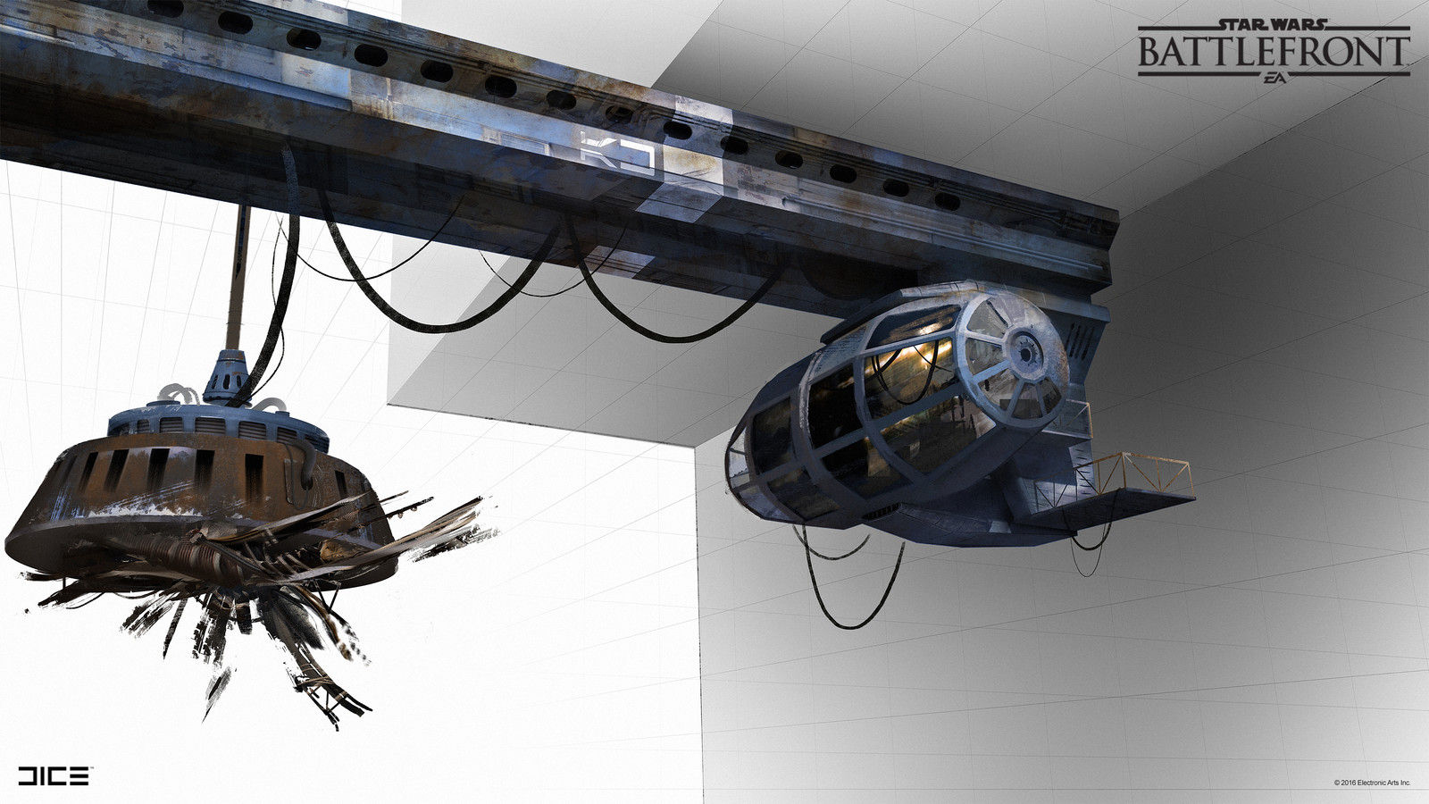 SoroSuub Crane Concept Art  for the Star Wars Battlefront Outer Rim DLC. (2015)