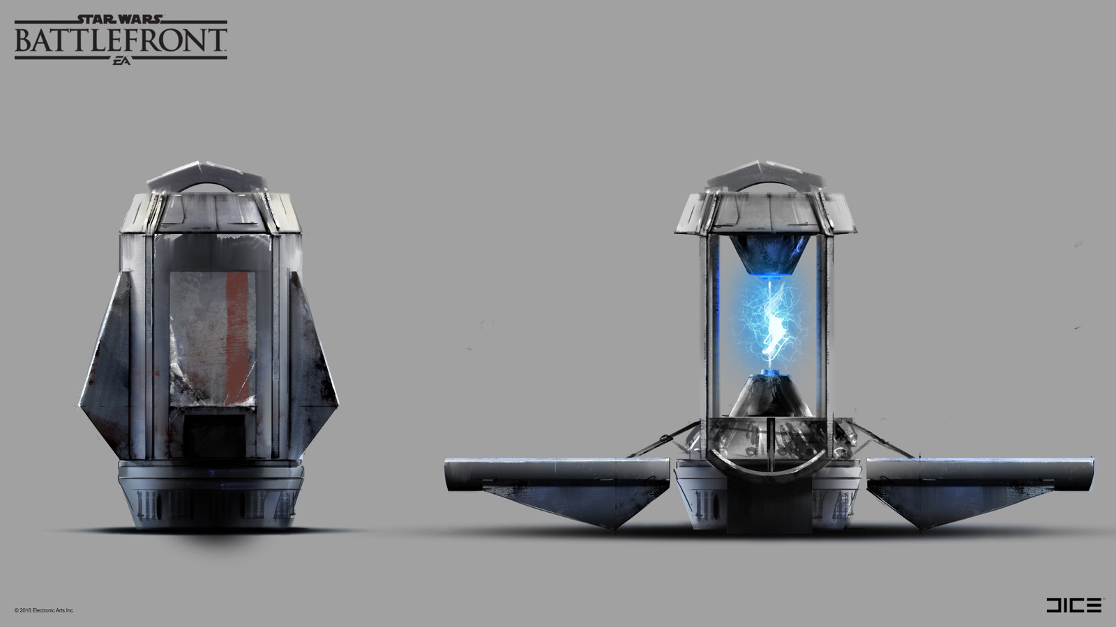 Stationary Shield Concept Art for the 2015 Star Wars Battlefront game. (2014)