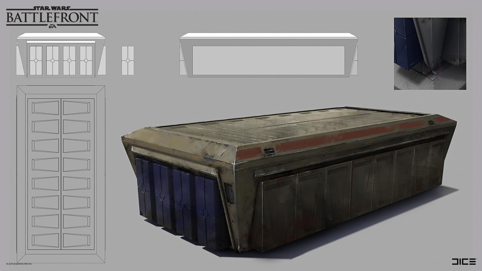 Rebel container on Sullust Concept Art for the 2015 Star Wars Battlefront game. (2014)