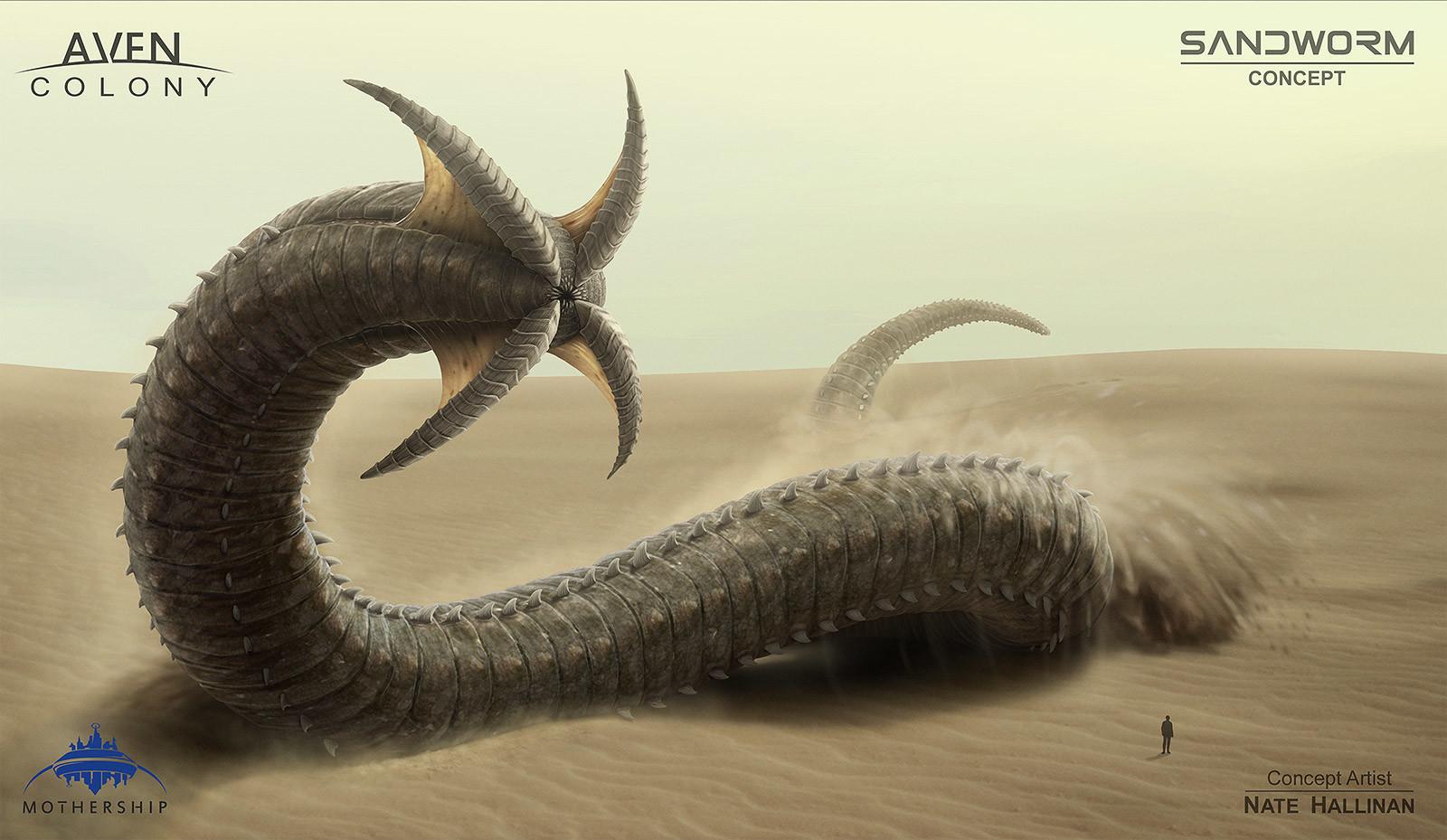 Nate hallinan ac alien sandworm concept