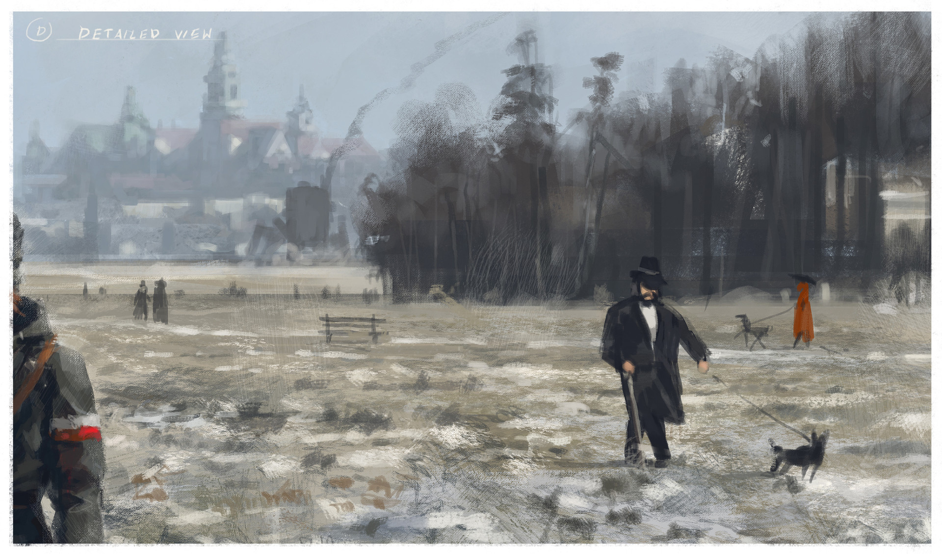 Jakub rozalski 1920 first snow blonie process0d2