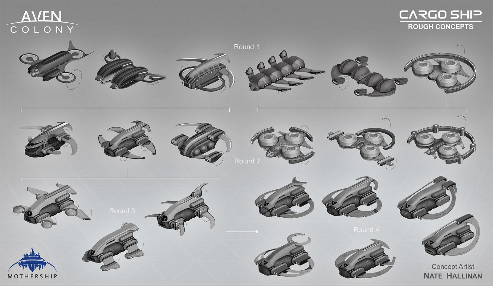 Initial rough concept thumbnails