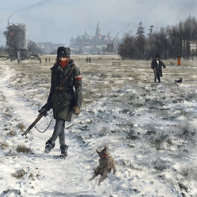 Jakub rozalski 1920 first snow blonias1