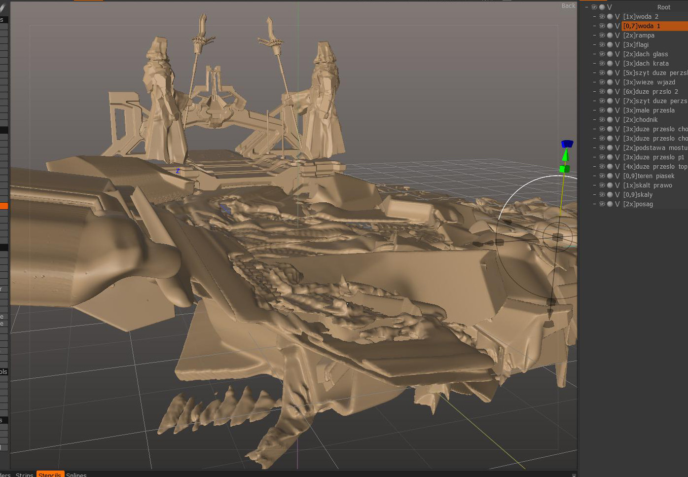 Wojciech bajor wb cath 3d bridge and beach terrain art up