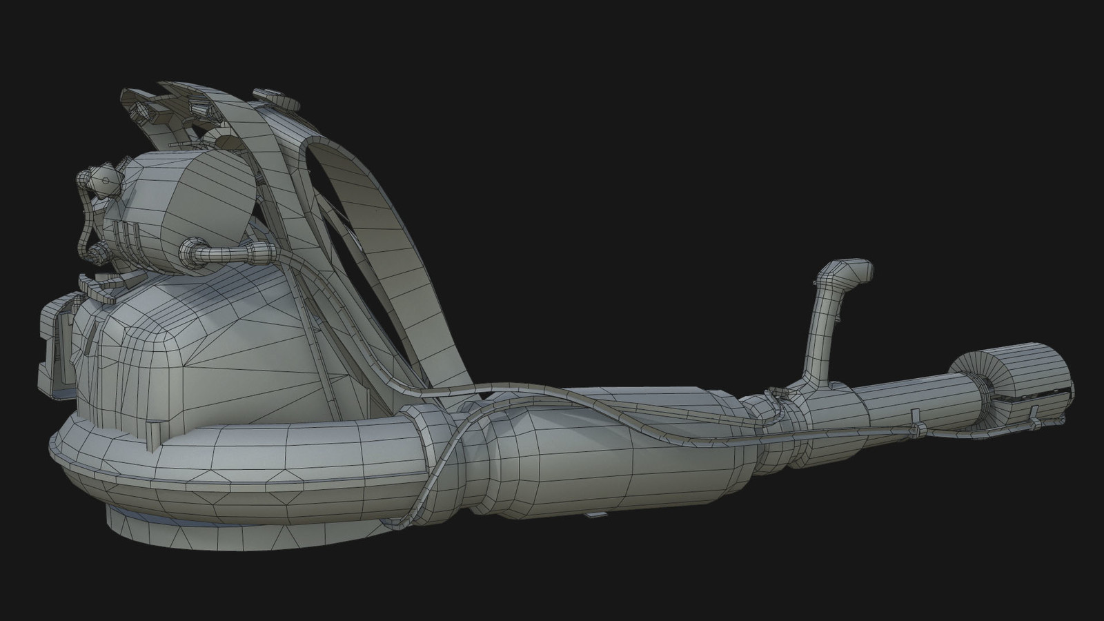 low poly topology- 16k tris