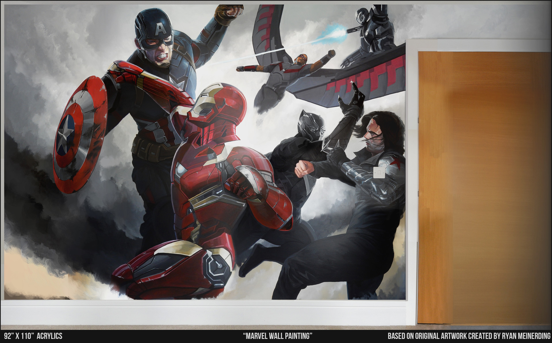 Dave paget marvel wall painting mid