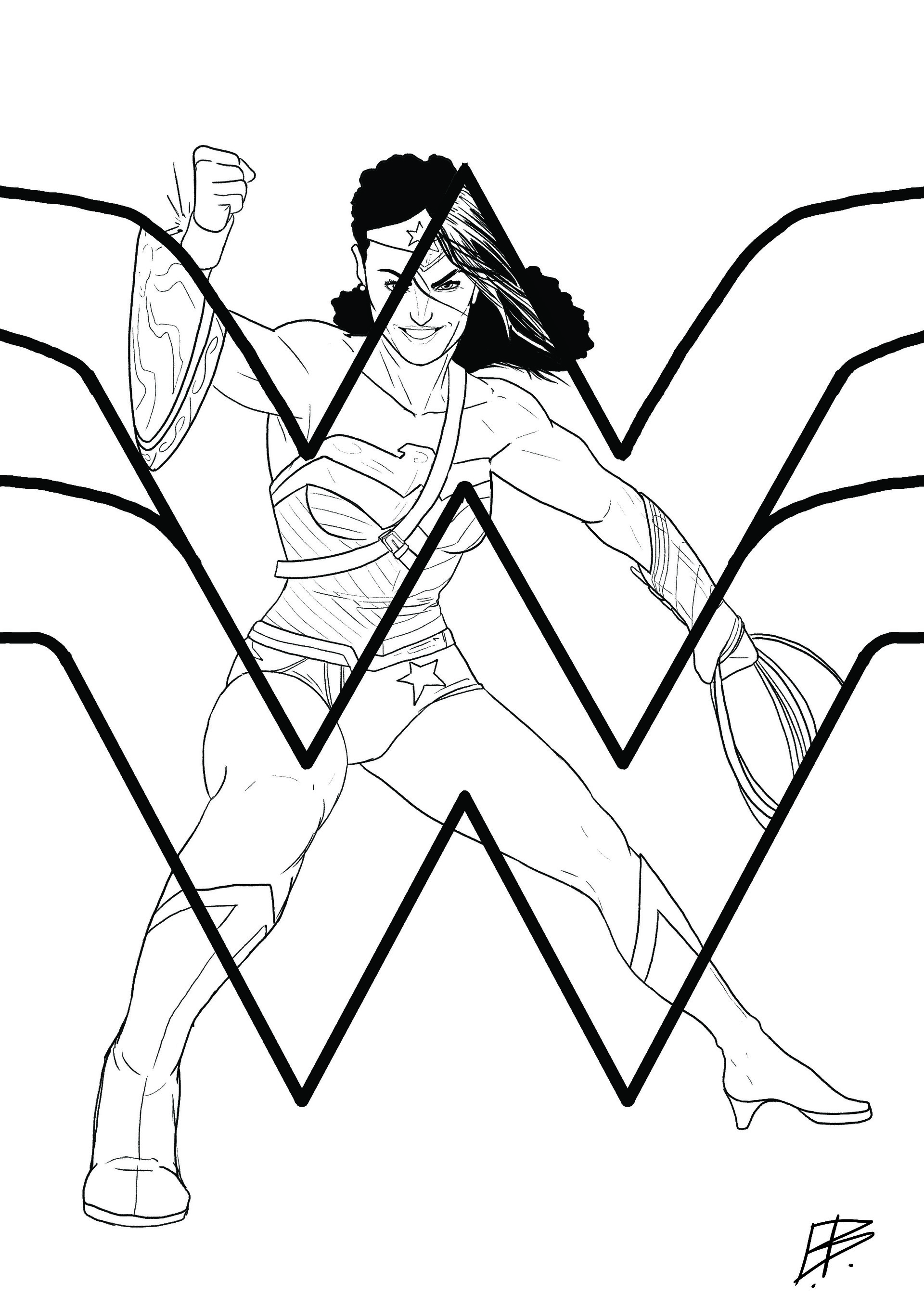 Elliot balson wonder woman 75th inks