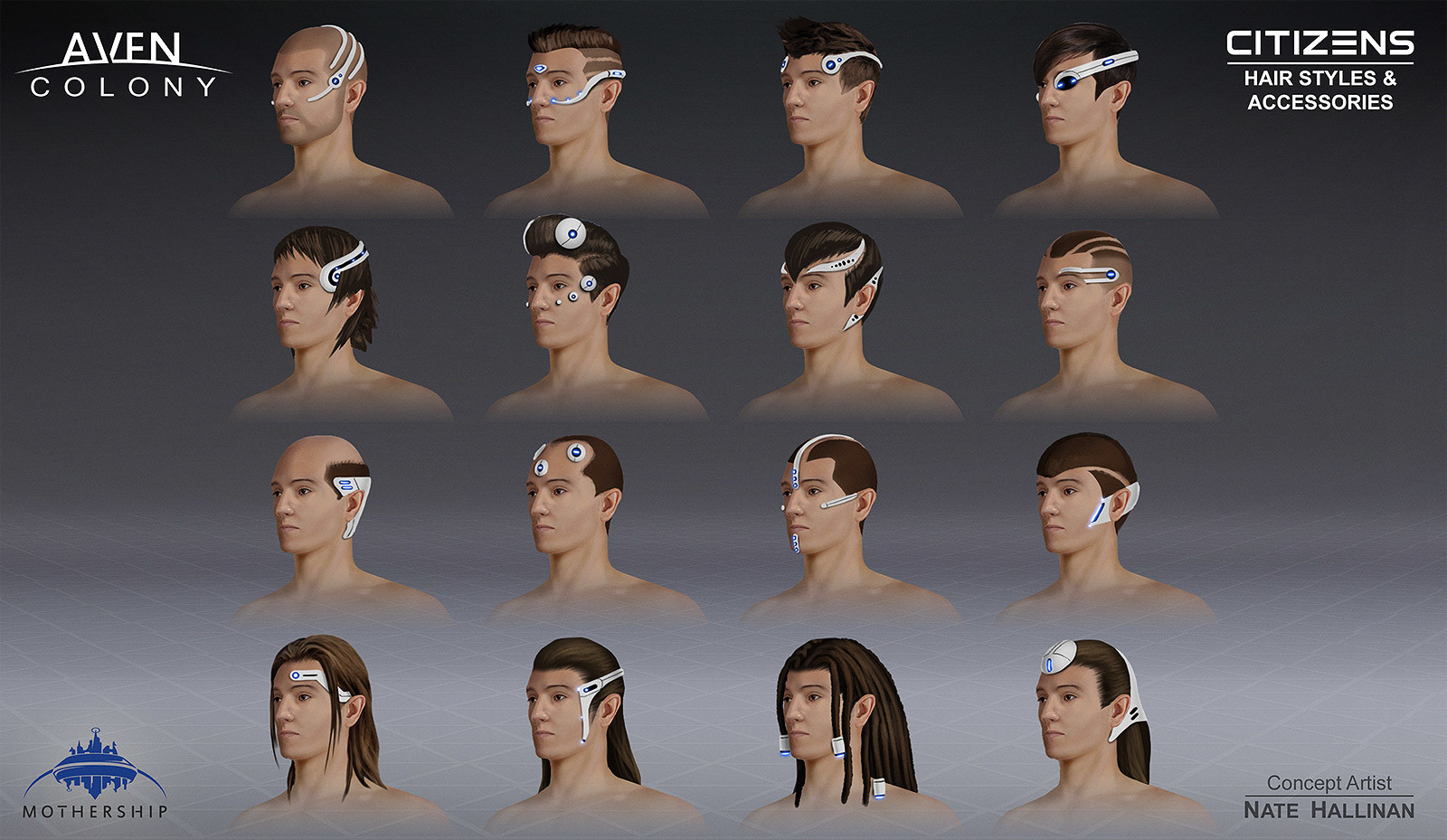 Possible Female hairstyles and accessories. (Not sure if in-game)