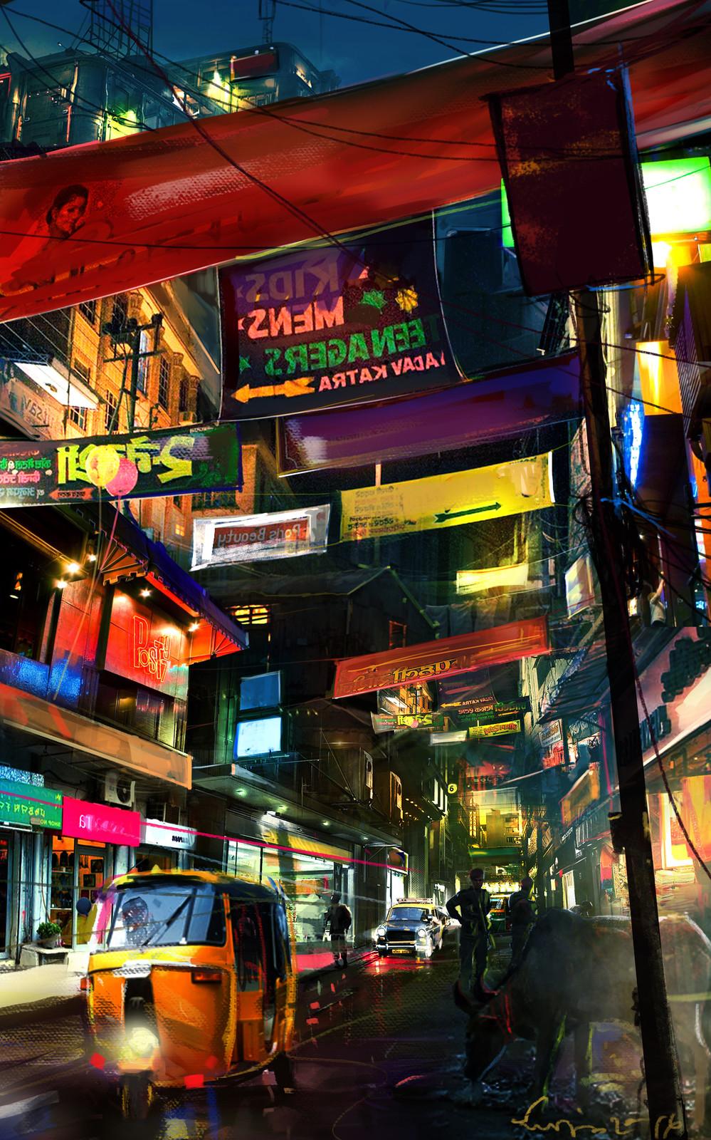 Indian bazaar street