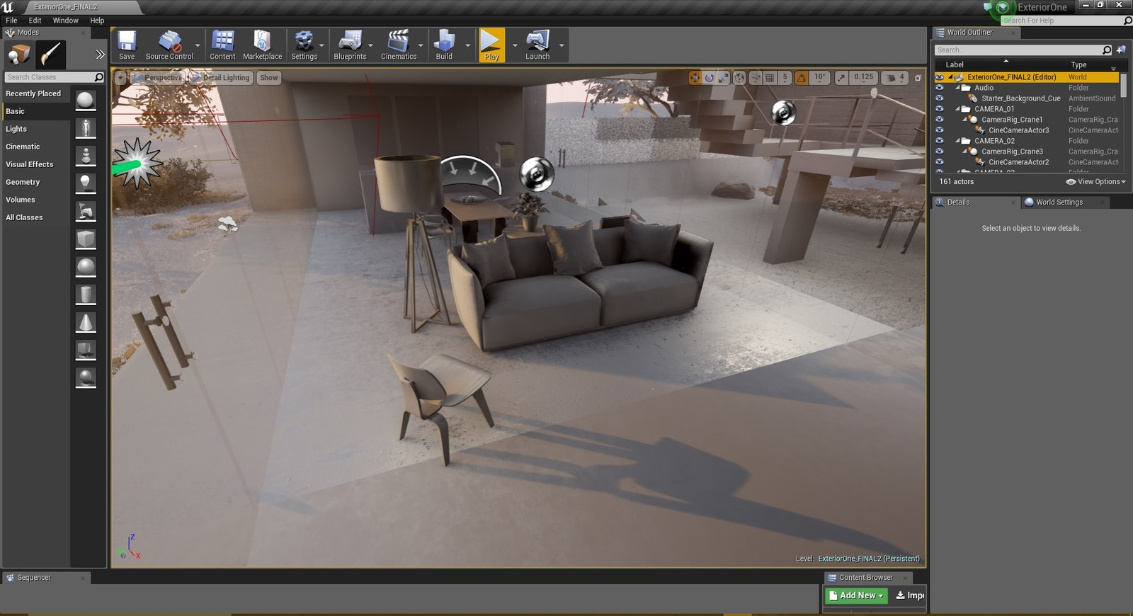 Unreal Engine 4 - Detailed lighting interior