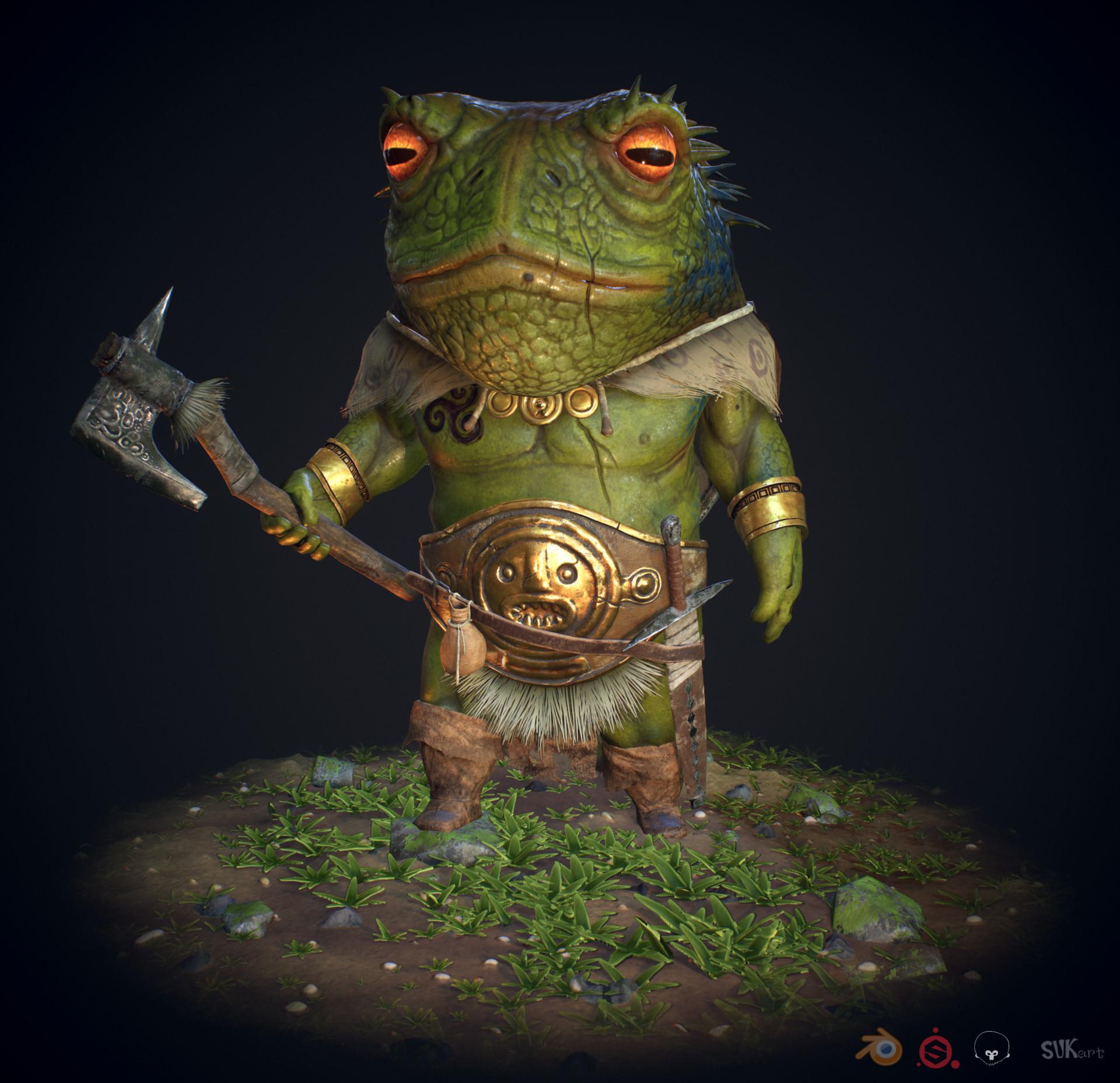 Souvik karmakar frog warrior final render copy