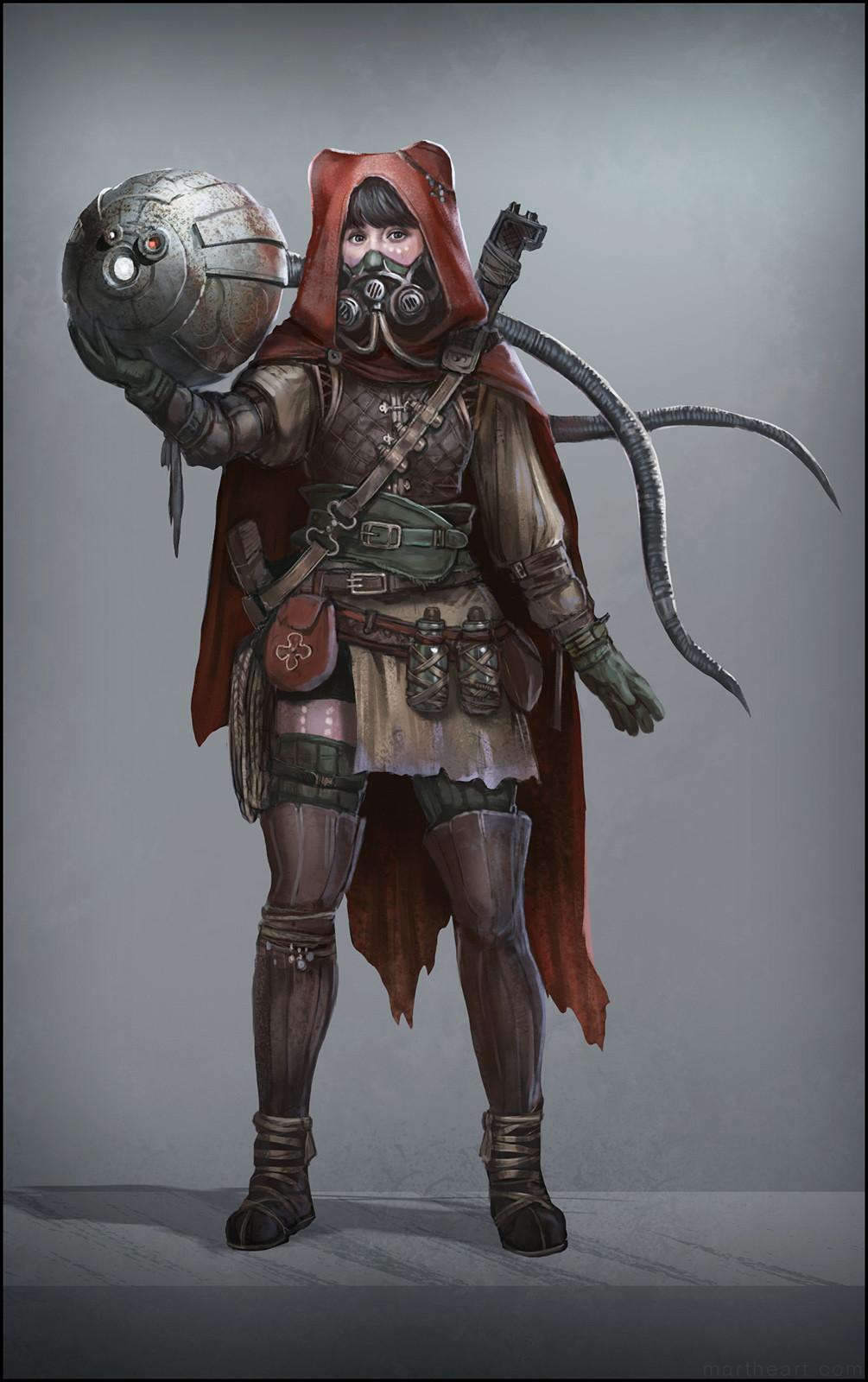 Enuma Character Design: Biologist Class