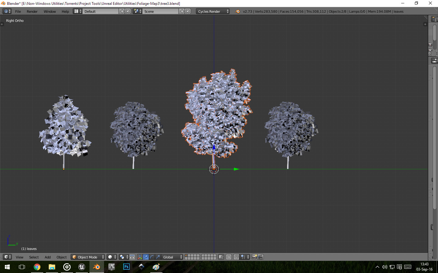 Final Tree Models used in Other Images