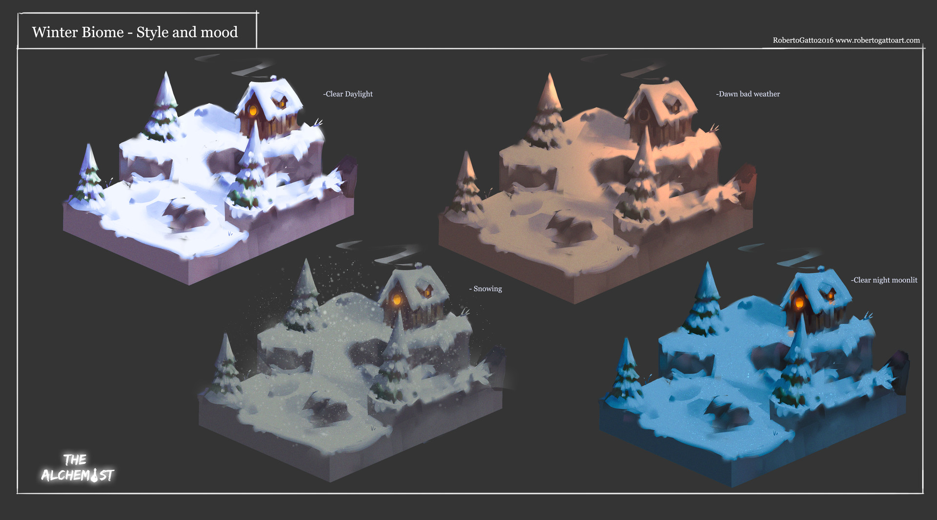 The Alchemist - Winter Biome style and mood