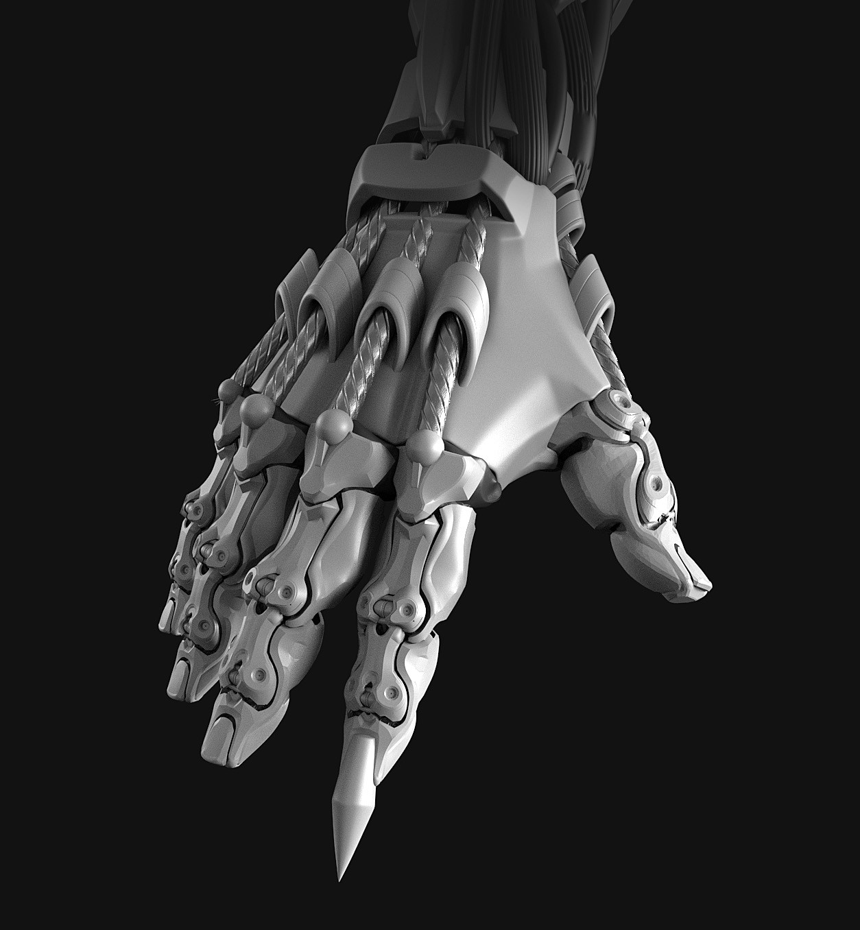 Close up of hand.