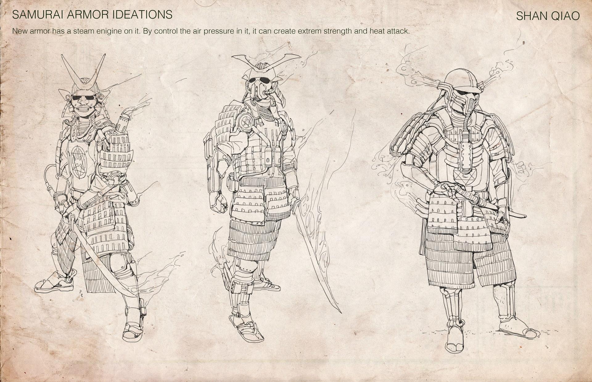 Shan qiao samurai armor ideations