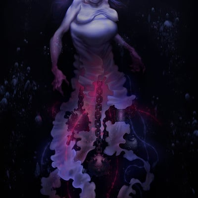 Siren witch from abyssal depths