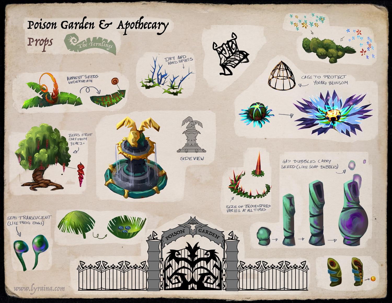 Johanna rupprecht lyraina fernlings apothecary garden props