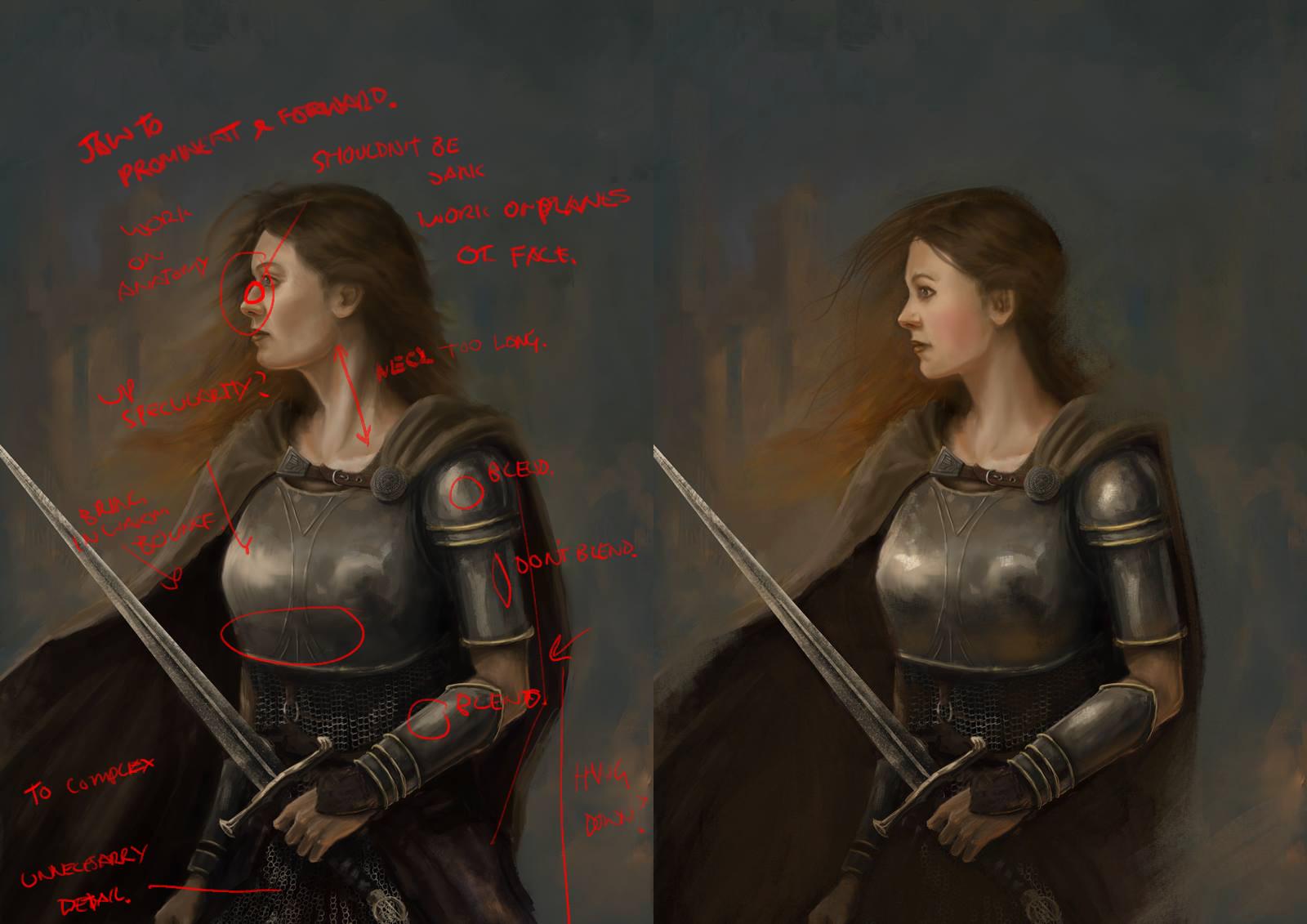 Kelvin liew warrior woman po