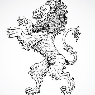 Vera petruk samiramay 05 hand drawn zodiac sign of leo or lion