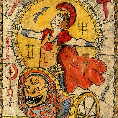 Vera petruk samiramay 7 the old tarot card the chariot