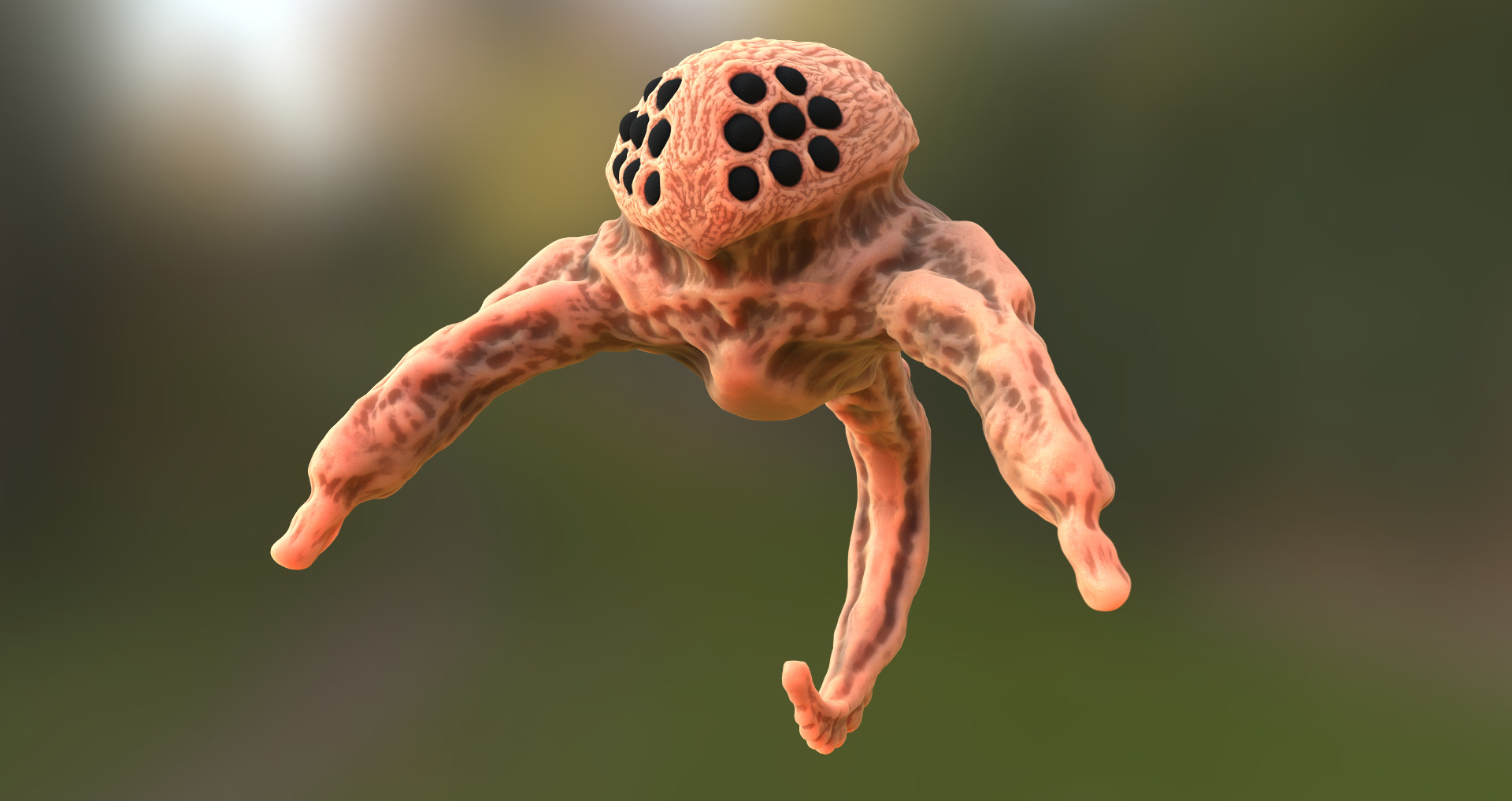 Tailed Alien Creature