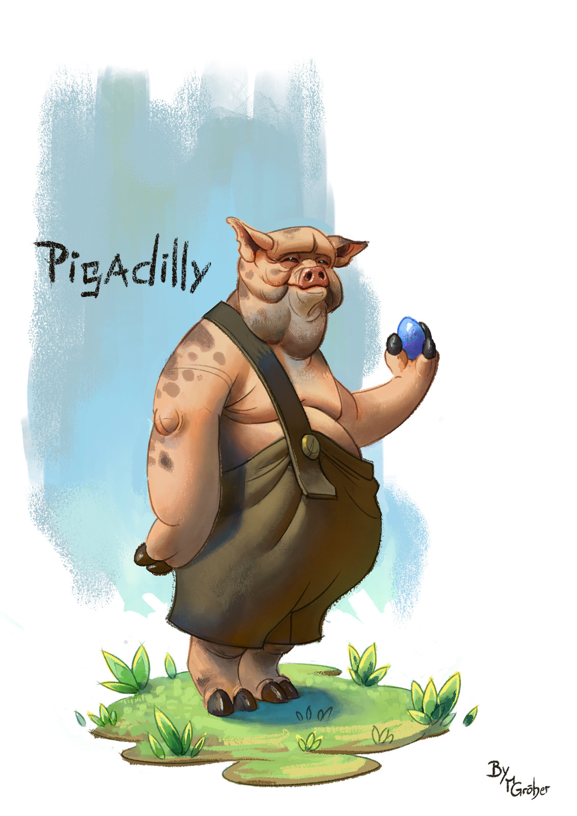 Pigadilly character painting
