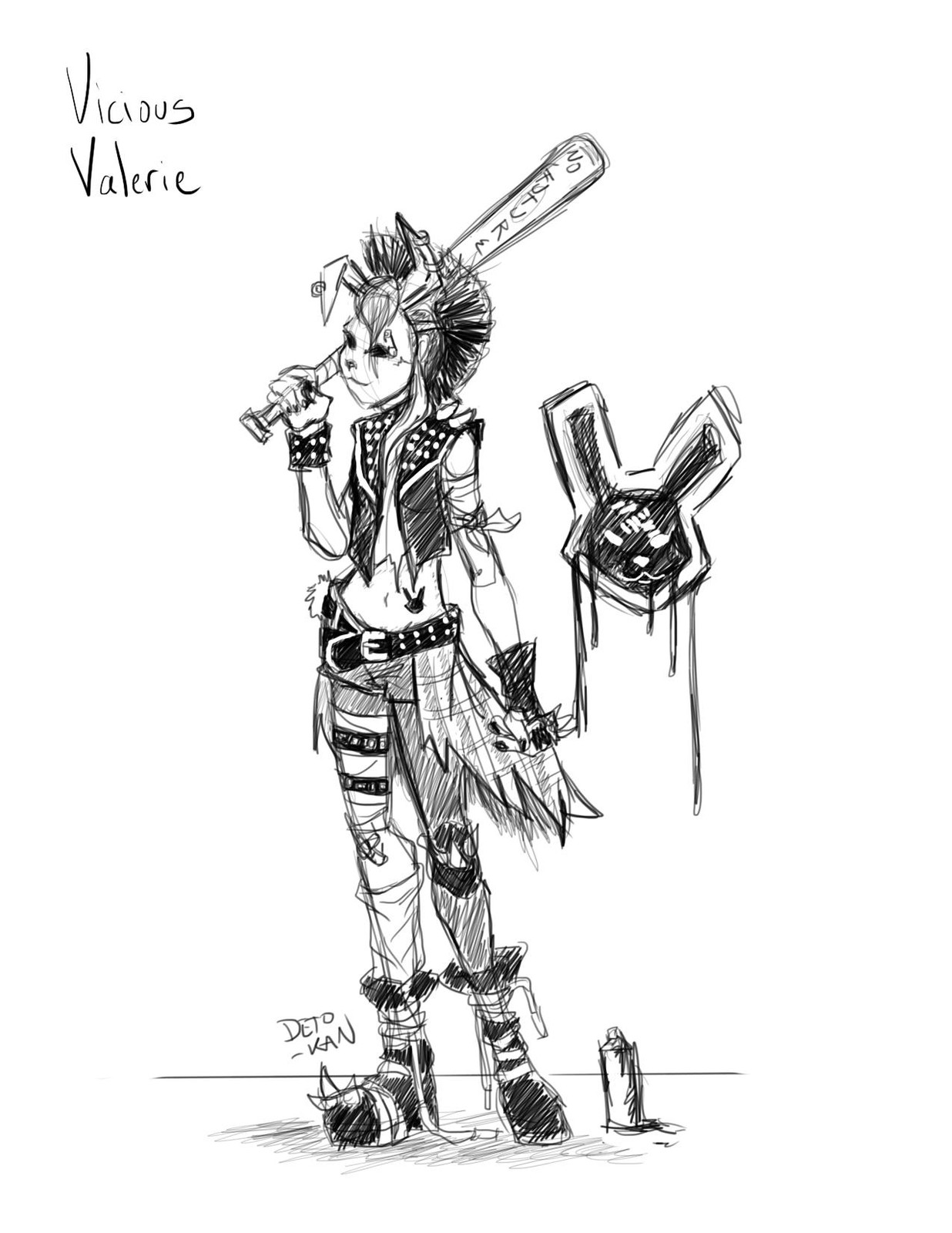 Punk Bunny Challenge - Initial Sketch