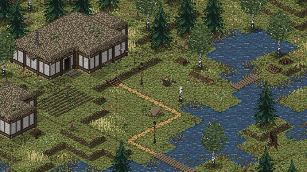 Preview scene, please view in full to avoid blurry pixels. See link for downloadable tileset.