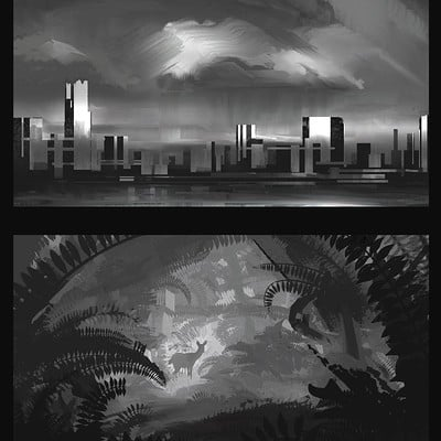 Composition Practice Sketches