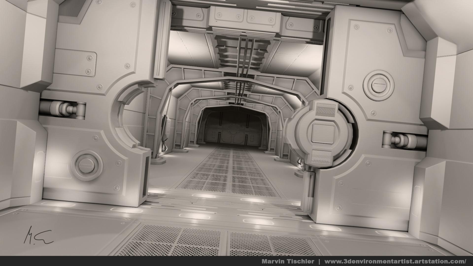 Marvin tischler hallway scifi 001 e