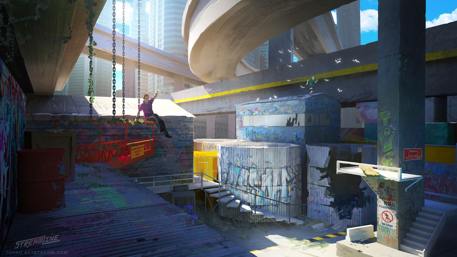 Streamline concept-art : overpass