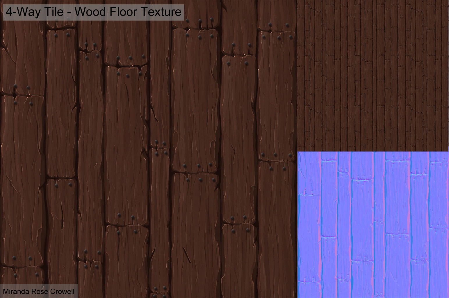 Artstation wood stone and metal hand painted textures miranda 4 way tiling wood floor texture dailygadgetfo Image collections