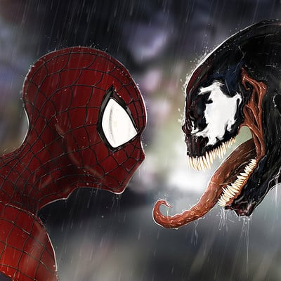 Spiderman & Venom Fan Art