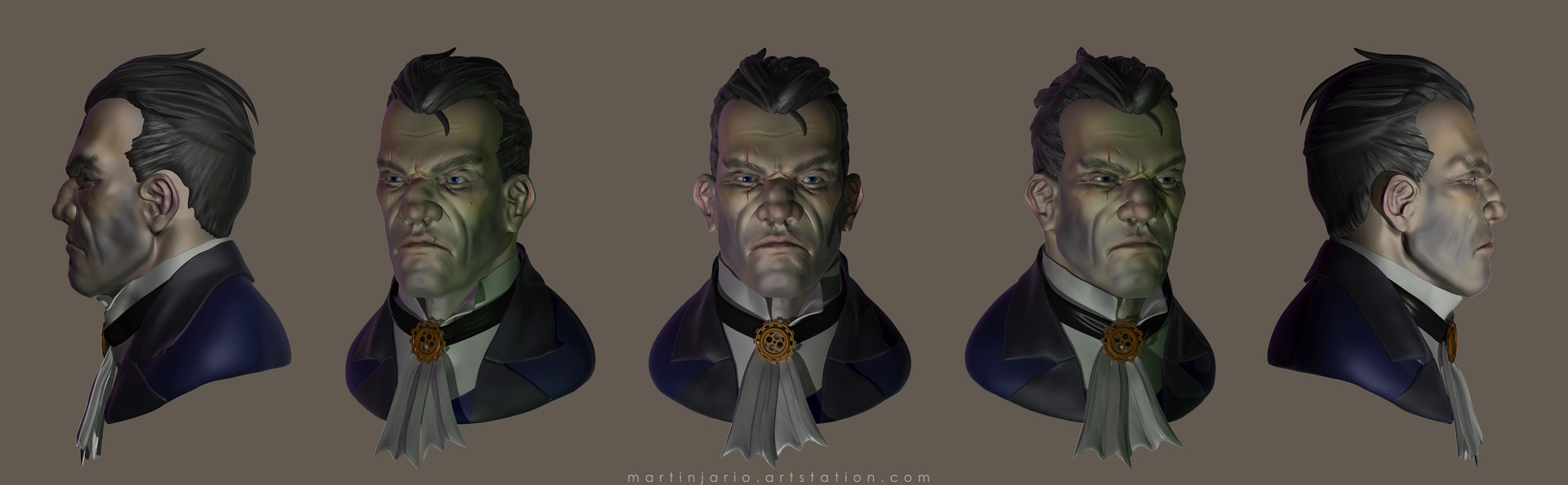 Martin jario martinjario dishonored views color zbrush