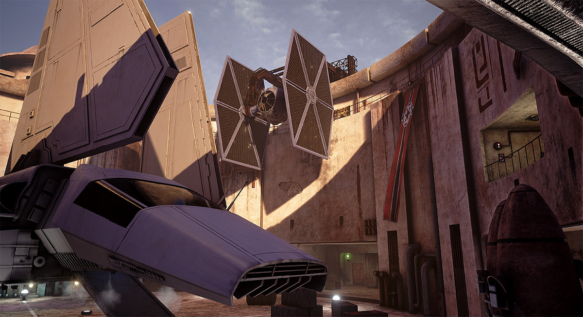 Tie Fighters, clamps and textures.