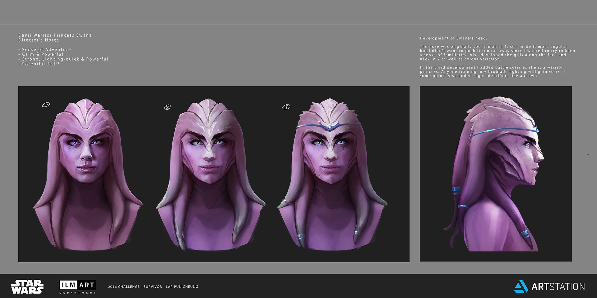 Lap pun cheung the job character design danji warrior princess swana concept art 002 online
