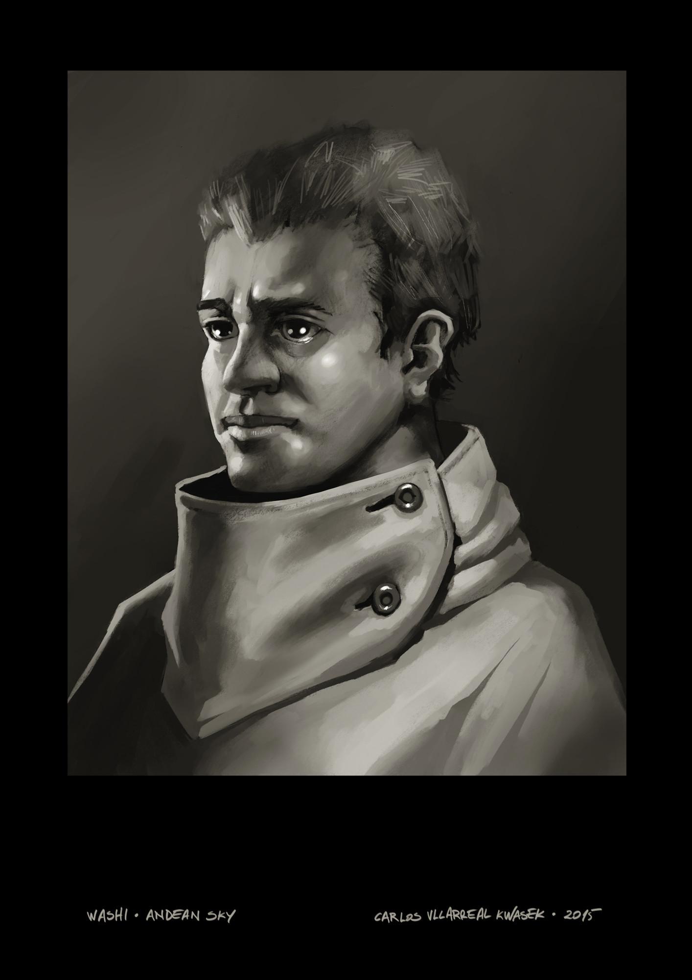 Carlos villarreal kwasek carlos villarreal kwasek washi portrait