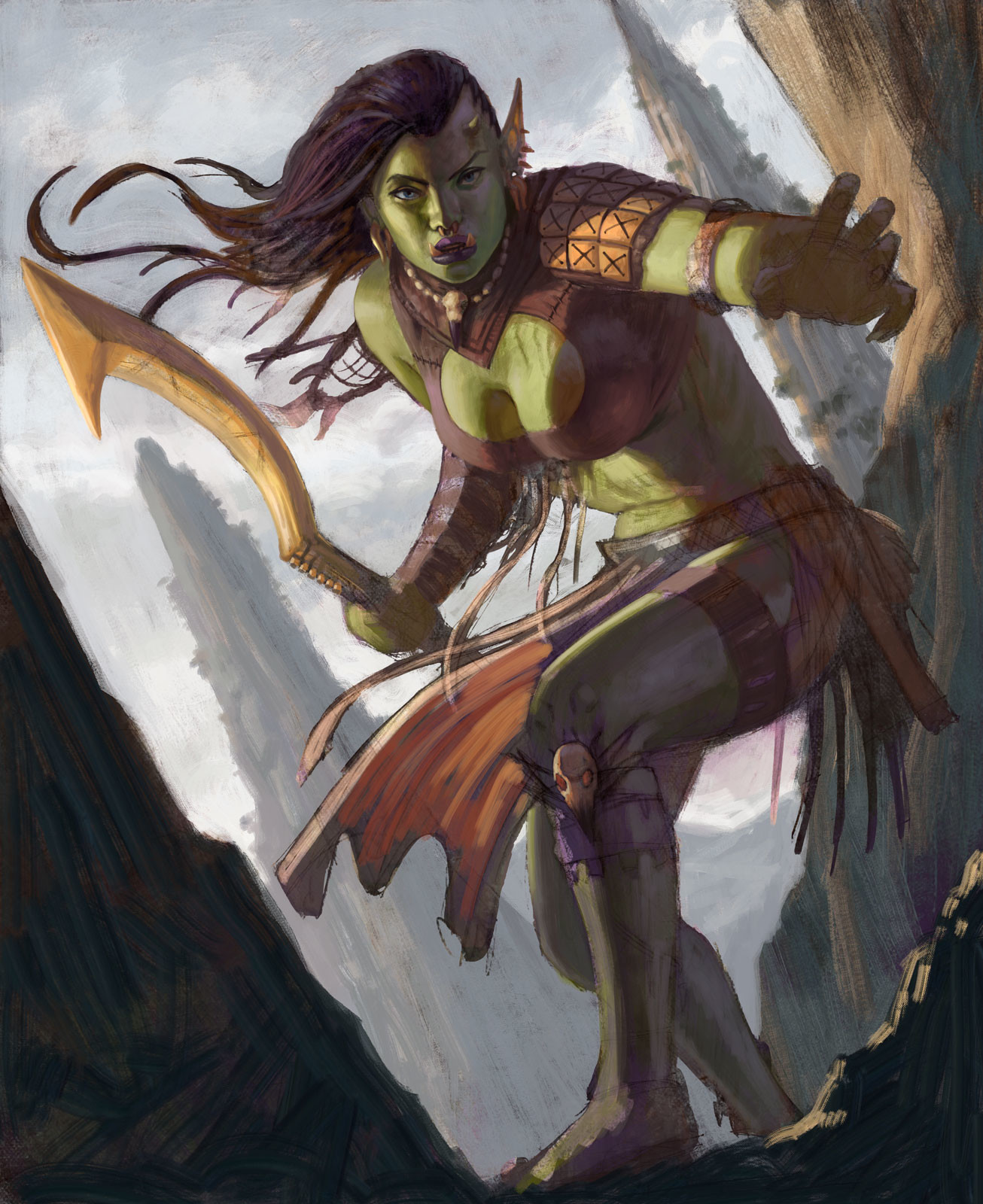 Rafael teruel hex orc female rogue final by rafater