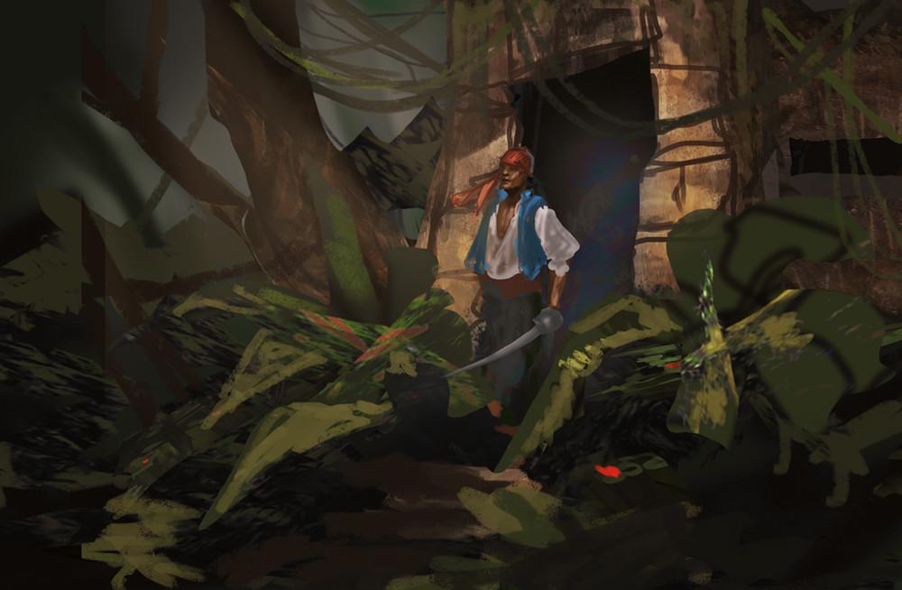 Sketch topic: Jungle Temple