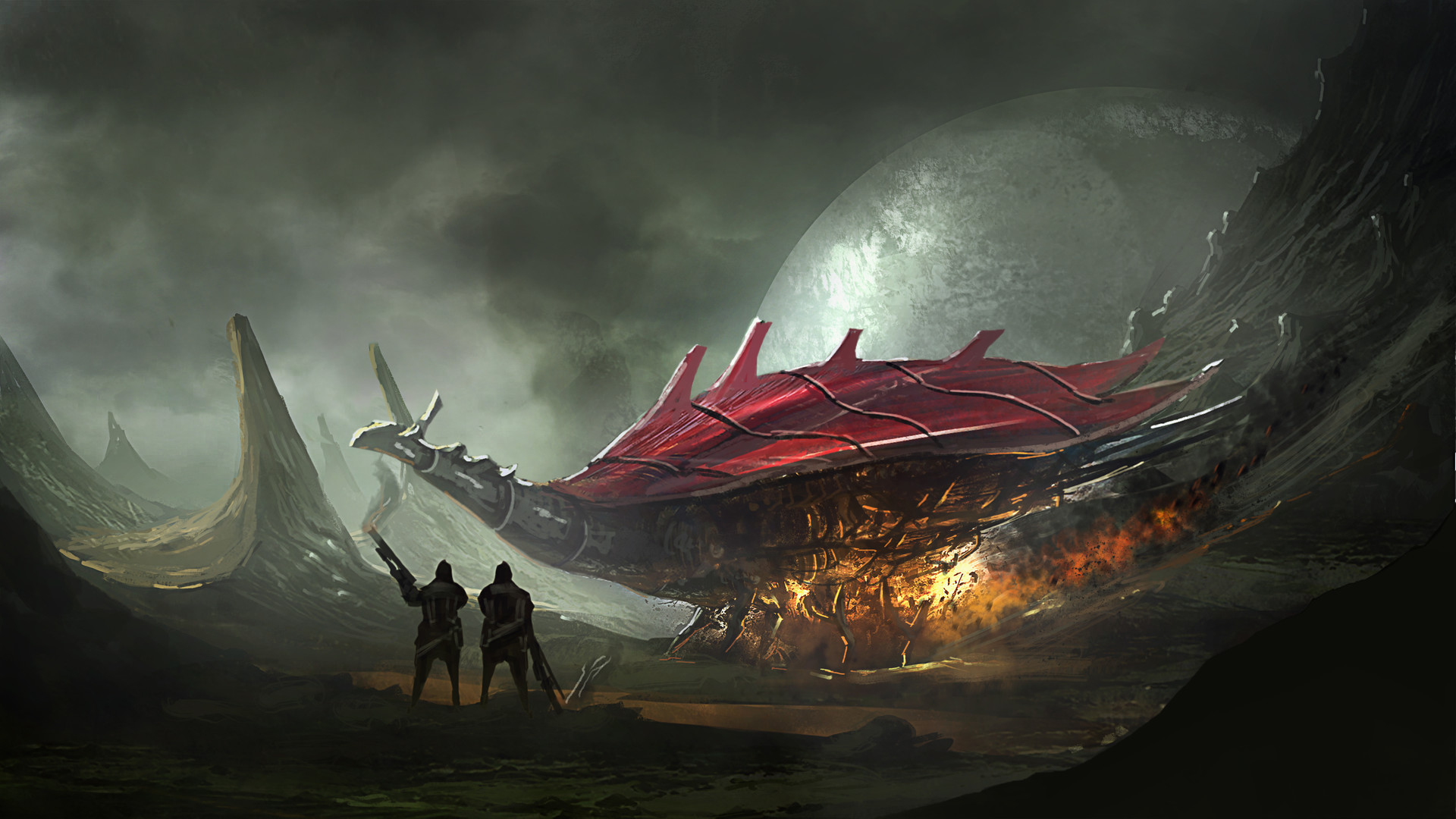 Godwin akpan speed paint alien planet
